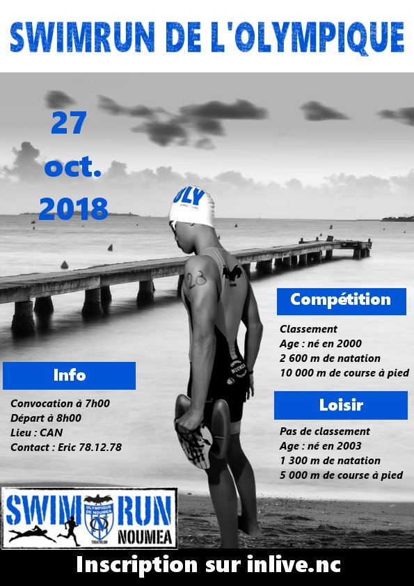 SWIMRUN DE NOUMEA INDIVIDUEL INSCRIPTION SUR INLIVE.NC